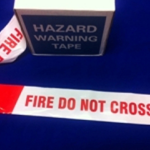 Fire Do Not Cross Barrier Tape Red & White 75mm x 250m
