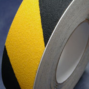 Antislip Tape Self Adhesive Safety Hazard Warning Black & Yellow 100mm x 18m