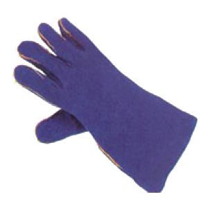 Blue Lined Heat Resistant Welders Gauntlet (pack of 24 pairs)