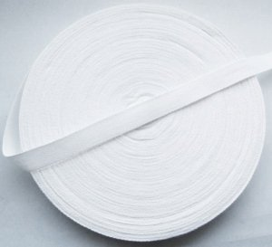 Cotton Tie Tape 20mm x 50m Pure White Bleached