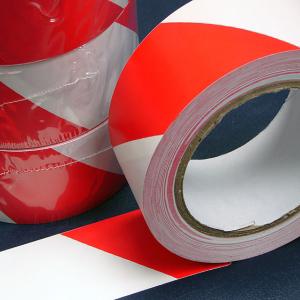 Pvc Hazard Warning Tape Adhesive Red Amp White 25mm X 33m