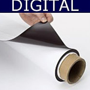 Magnetic Sheet Digital Print White 620mm x 0.5mm x 30m Matt Finish