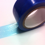 Low Tack Surface Protection Tape Plain Blue 50mm x 100m
