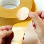 Self Adhesive Labels Clear 40mm Diameter (2000 Per Roll)