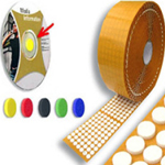 CD / DVD Dots / Discs / Buttons / Holders / Spiders Foam Orange 16mm x 4mm (1000 Per Roll)