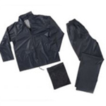 PVC 2 PIECE RAIN SUIT NAVY SMALL