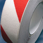 Antislip Tape Self Adhesive Safety Hazard Warning Red & White 50mm x 18m